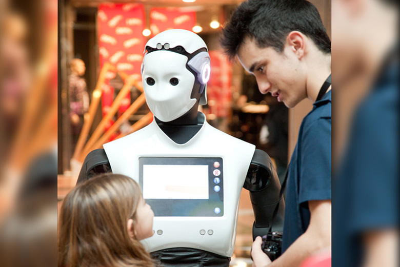A humanoid robot to impress your customers